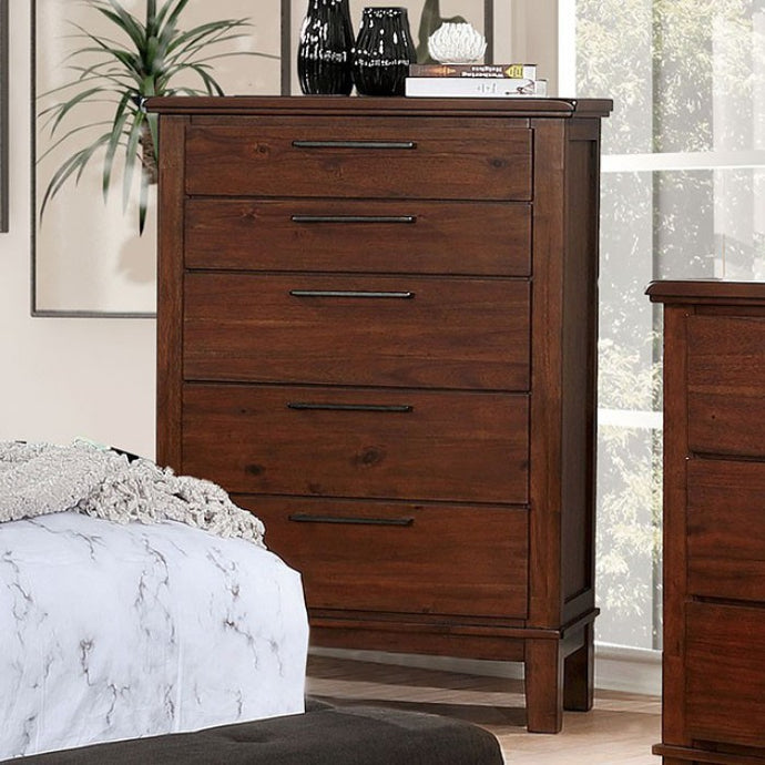 Furniture Of America Knighton Cherry Wood Finish Chest