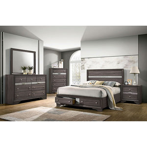 Furniture Of America Chrissy Gray Wood Finish 4 Piece Queen Bedroom Set