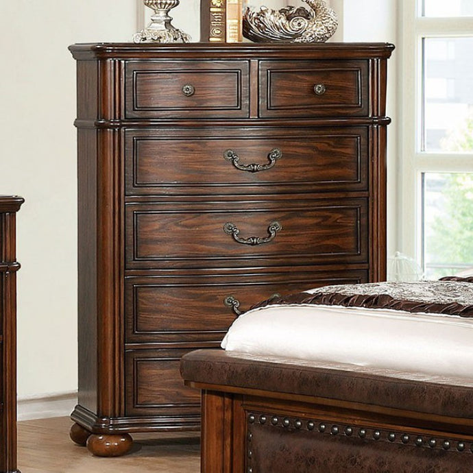 Furniture Of America Janiya Cherry Wood Finish Chest