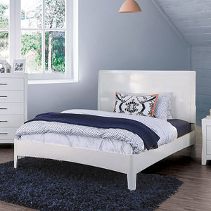 Furniture Of America Deanne White Wood Finish Twin Bed