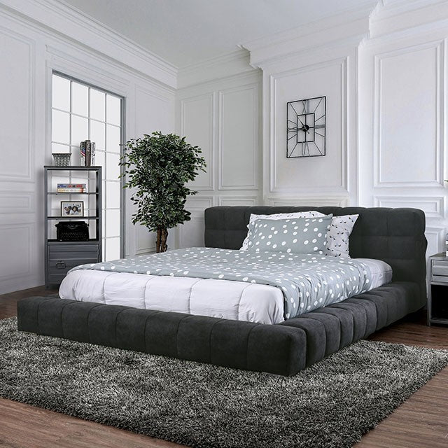 Furniture Of America Woley Gray Wood Finish Eastern King Bed