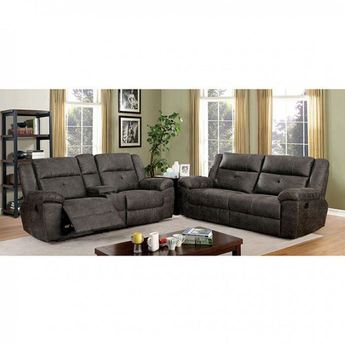 Furniture Of America Chichester Brown Fabric Finish Recliner Sofa Set
