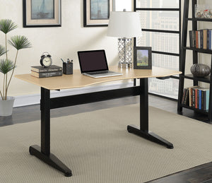 Furniture of America Kilkee Black Adjustable Height Desk Large
