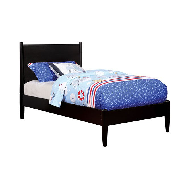 Furniture of America Lennart II Black Wood Twin Bed