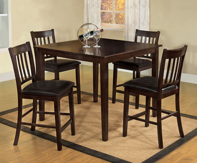 Furniture of America Northvale 5 Piece Counter Height Table Set