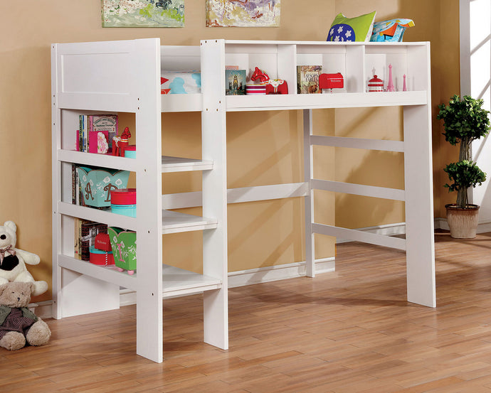 Furniture of America Annemarie White Wood Twin Loft Bed