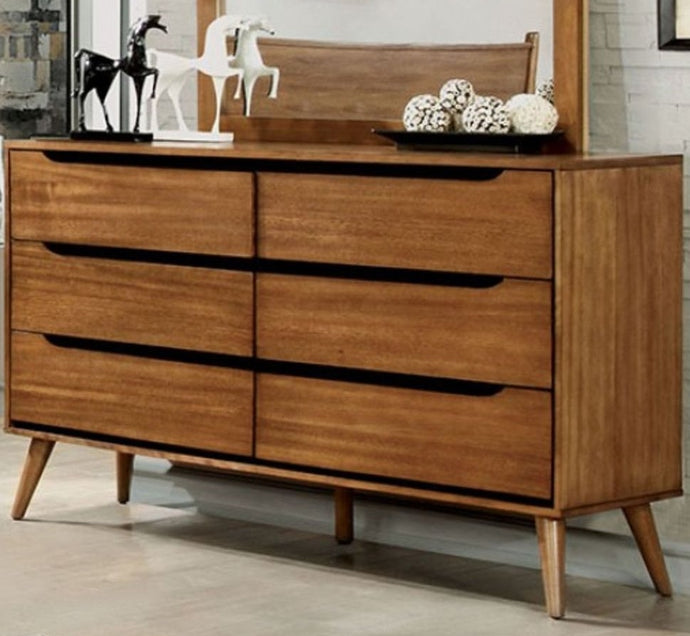 Furniture of America Lennart Oak Finish Wood Dresser