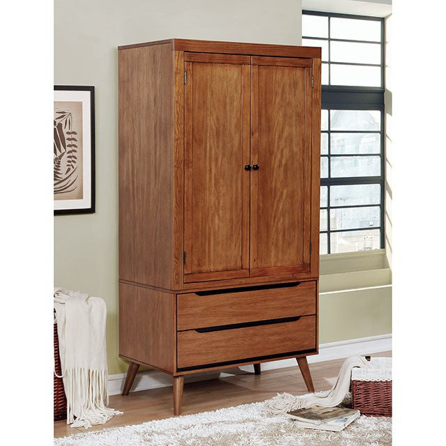 Furniture of America Lennart I Oak Finish Wood Armoire