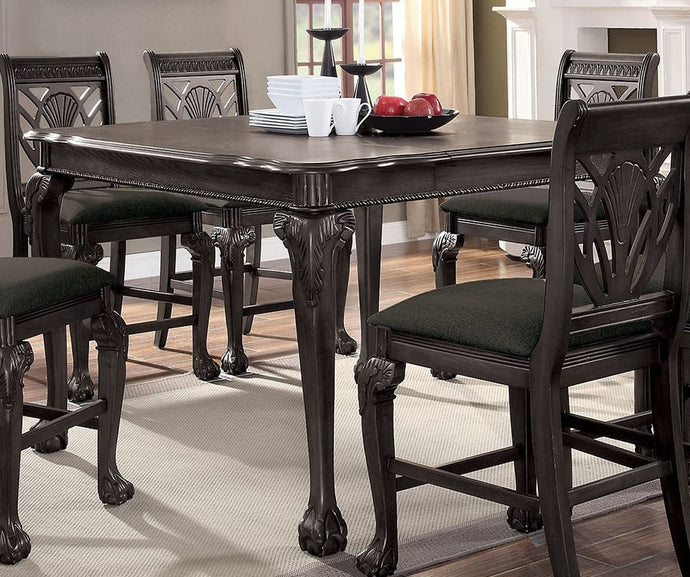 Furniture of America Petersburg Dark Gray Wood Counter Height Table