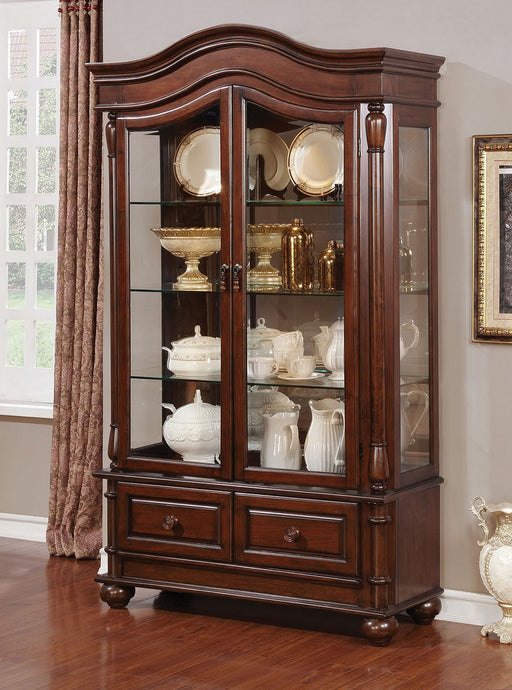 Furniture of America Sylvana Brown Cherry Wood Hutch & Buffet