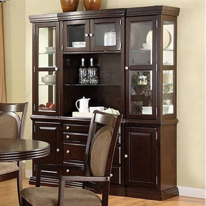 Furniture of America Evelyn Contemporary Walnut Wood Hutch & Buffet