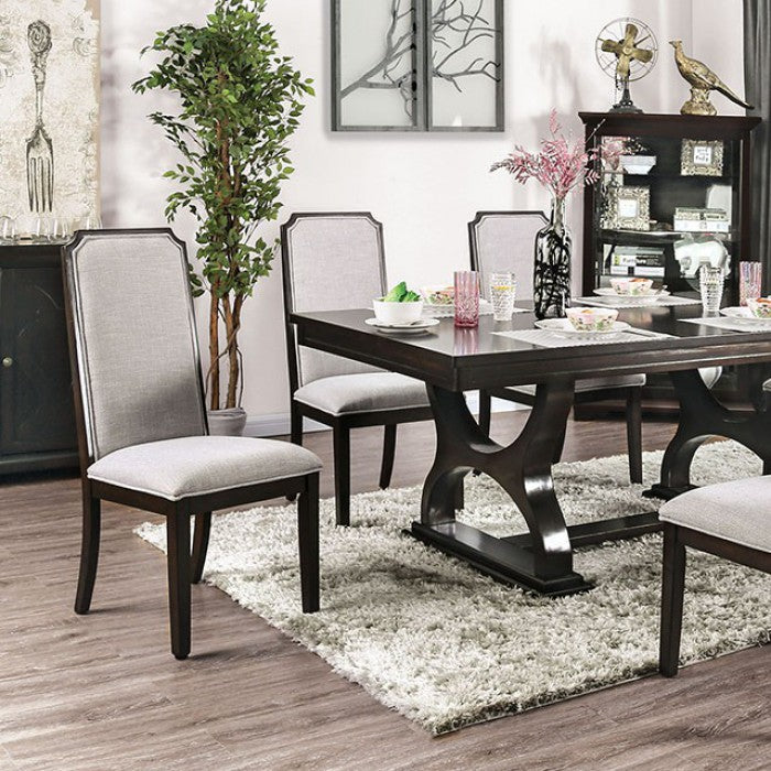 Furniture of America Gillam Transitional Espresso Dining Table