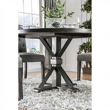 Load image into Gallery viewer, Furniture of America Alfred Rustic Antique Black Round Dining Table