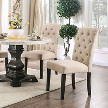 Load image into Gallery viewer, Furniture of America Elfredo White & Antique Black Round Dining Table