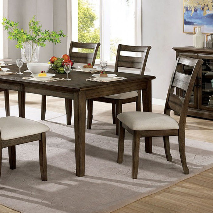 Furniture of America Rigby Light Walnut Wood Dining Table