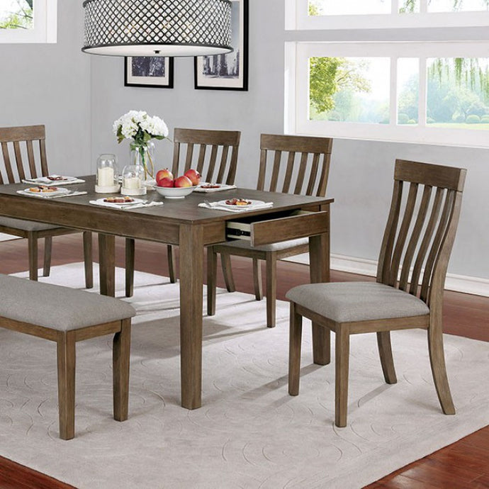 Furniture of America Astilbe Light Oak Wood Dining Table