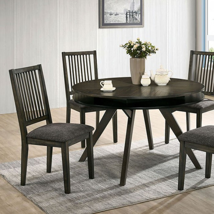 Furniture of America Cherie Gray Wood Round Dining Table