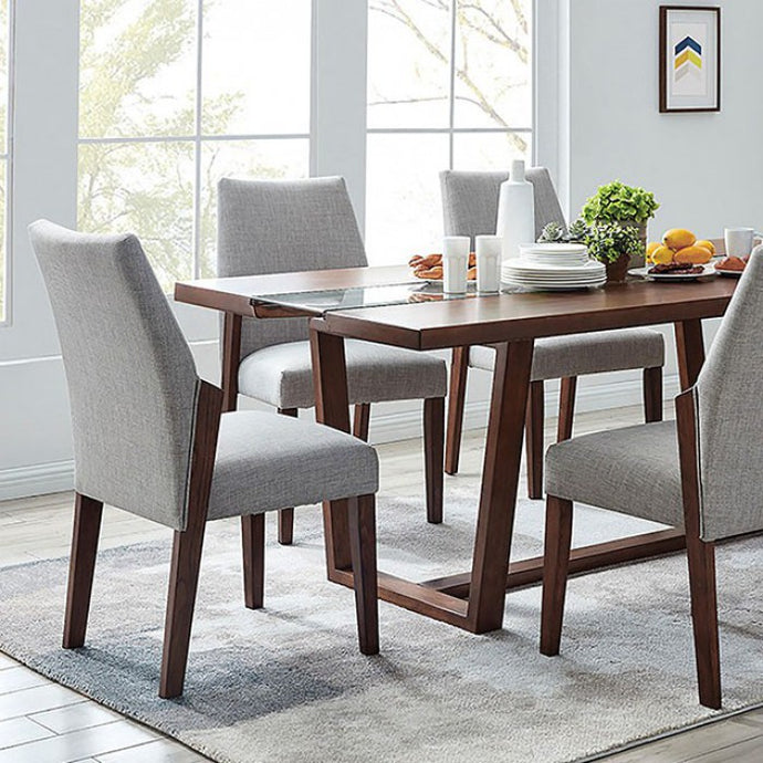 Furniture of America Brighid Dark Oak Wood Dining Table With LED Lights