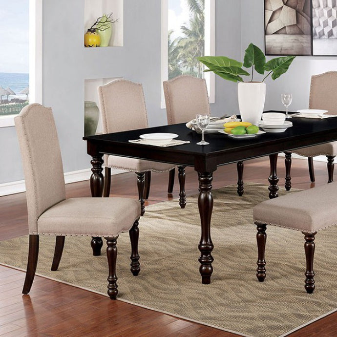 Furniture of America Hilma Transitional Espresso Dining Table