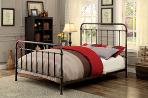 Iria CM7701GM-F Contemporary Dark Bronze Metal Full Bed