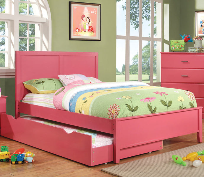Prismo Youth Kids Pink Full Platform Storage Trundle Bed CM7941PK-F