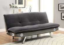 Load image into Gallery viewer, Gallagher CM2675GY Contemporary Gray Champion Fabric Futon Sofa Bed