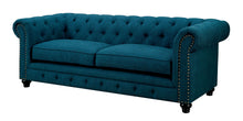 Load image into Gallery viewer, Furniture of America CM6269TL Stanford 2 PCs Dark Teal Fabric Sofa Set