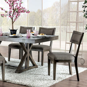 Furniture of America Leeds Gray Finish Dining Table
