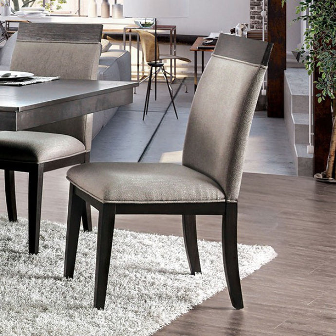 Furniture of America Modoc Espresso Finish Dining Chair Set of 2