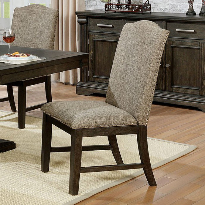 Furniture of America Faulk Espresso Finish Dining Chair Set of 2