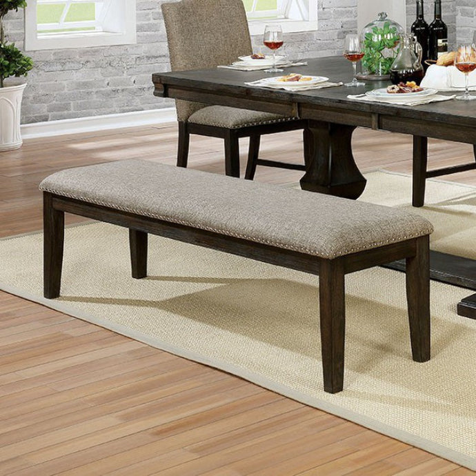 Furniture of America Faulk Espresso Finish Dining Bench