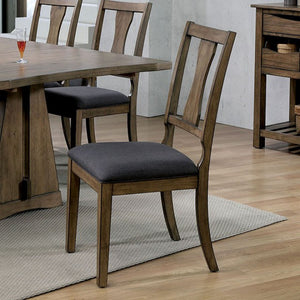 Furniture of America Benllech Light Oak Finish Dining Chair Set of 2