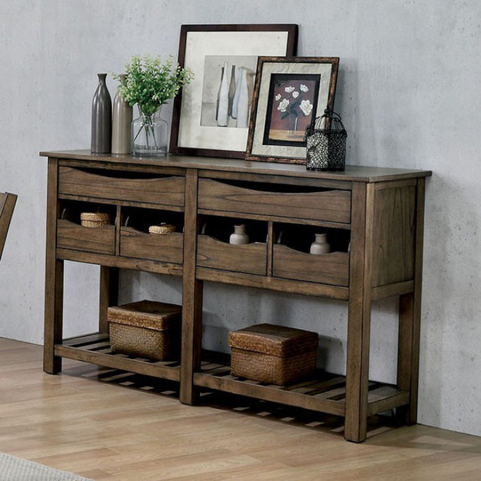 Furniture of America Benllech Light Oak Finish Dining Server