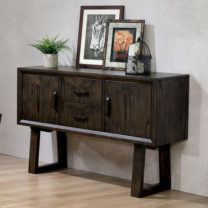 Furniture of America Meridian Dark Walnut Finish Dining Server
