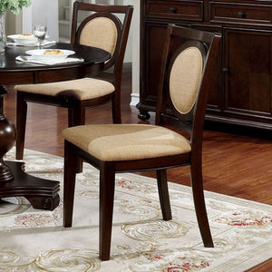Furniture of America Abergele Brown Cherry Dining Chair Set of 2