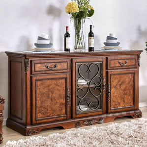 Furniture of America Lucie Traditional Brown Cherry Dining Buffet