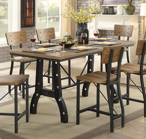889cf32708 Furniture of America Kirstin Industrial Counter Height Table