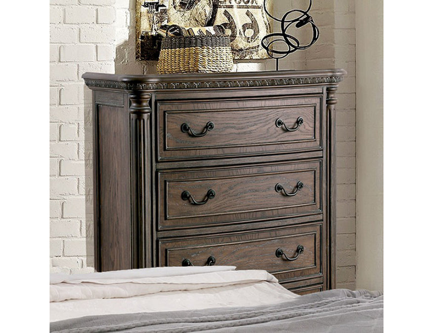 Persephone Rustic Wood Traditional Finish Chest
