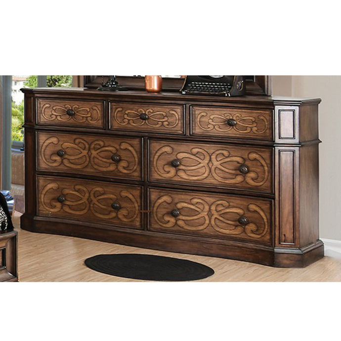Emmaline Brown Wood Traditional Finish Dresser