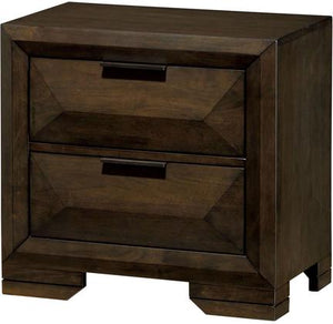 Nikomede Espresso Wood Traditional Finish Nightstand
