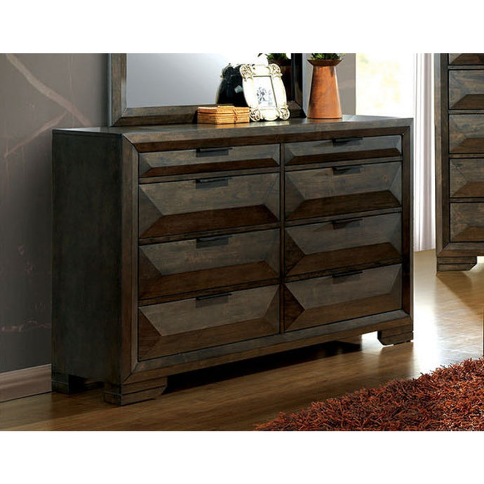 Nikomede Espresso Wood Traditional Finish Dresser