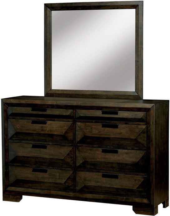 Nikomede Espresso Wood Traditional Finish Dresser With Mirror