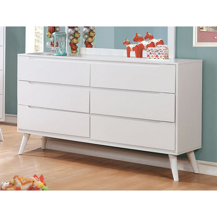Furniture of America Lennart II White Finish Modern Dresser