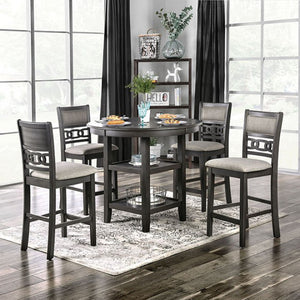Furniture Of America Milly Gray Wood Finish 5 Piece Dining Table Set