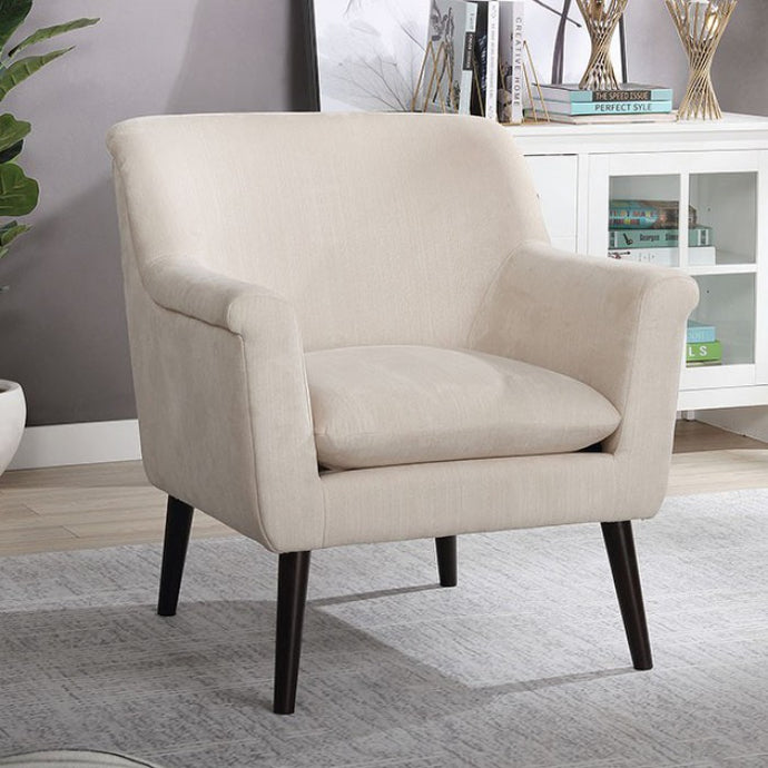 Furniture Of America Joline Beige Flannelette Finish Accent Chair