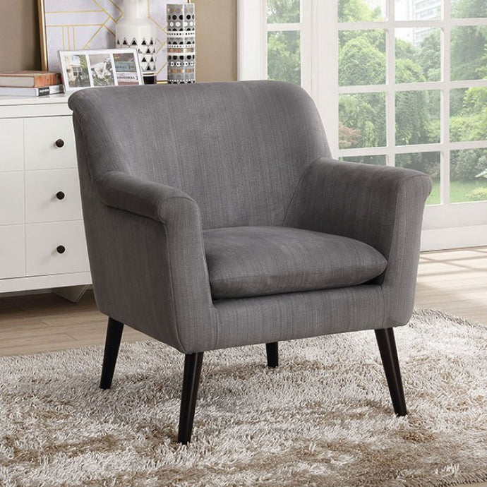 Furniture Of America Joline Gray Flannelette Finish Accent Chair