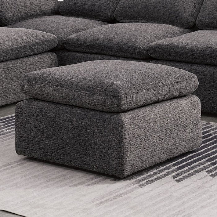 Furniture Of America Joel Gray Chenille Fabric Finish Ottoman