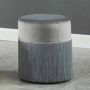 Furniture Of America Tyndall Gray Flanelette Finish Ottoman