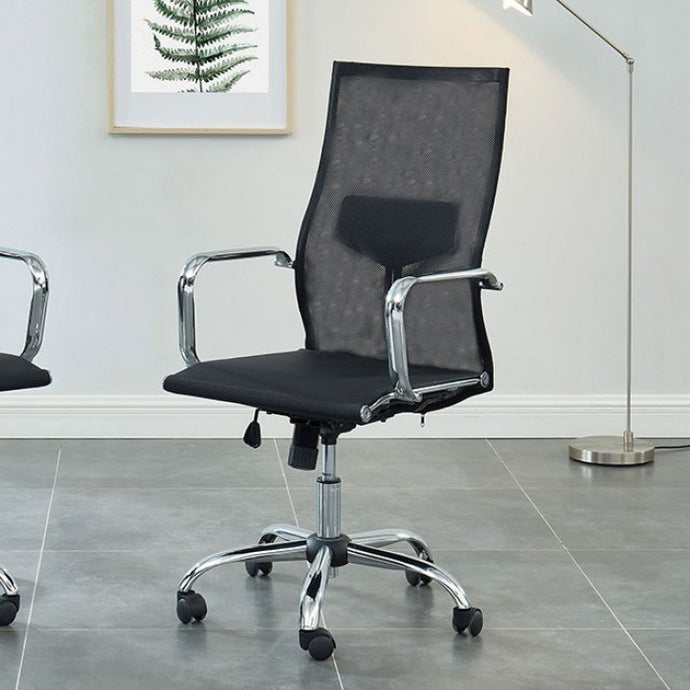 Furniture Of America Ursa Black Metal Finish Office Chair