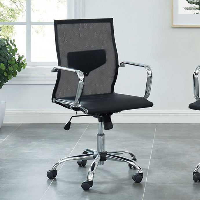 Furniture Of America Ursa Black Mesh Fabric Finish Office Chair